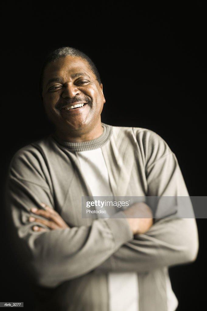 Portrait of a man smiling : Foto de stock