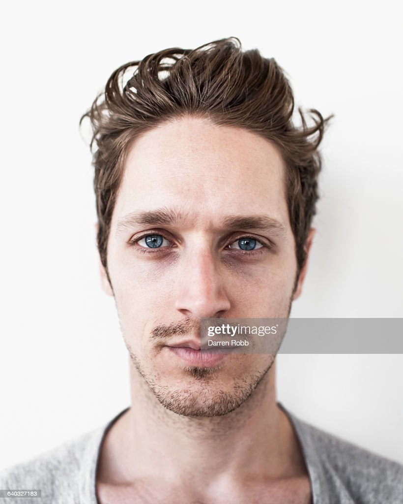 Portrait of a man staring : Stock Photo