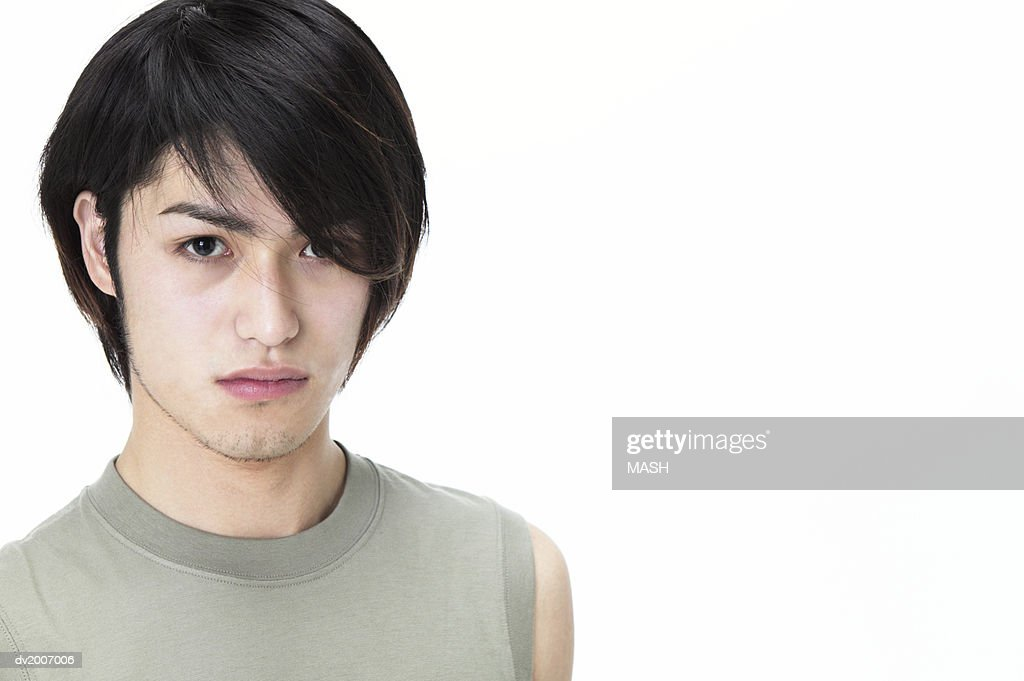 Portrait of a Man Wearing a T Shirt : Stock Photo