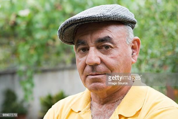 Portrait of a man wearing flat cap