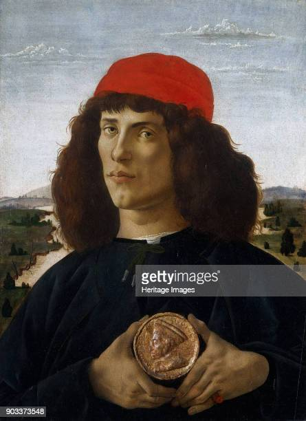 Portrait of a Man with a Medal of Cosimo the Elder Found in the Collection of Galleria degli Uffizi Florence