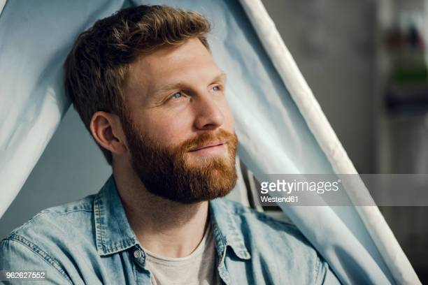 portrait of a man with beard, smiling - facial hair stock pictures, royalty-free photos & images