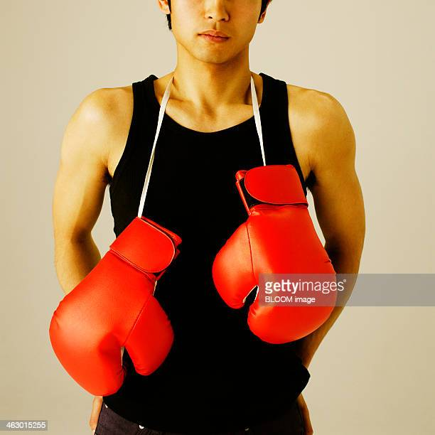 Portrait Of A Man With Boxing Gloves