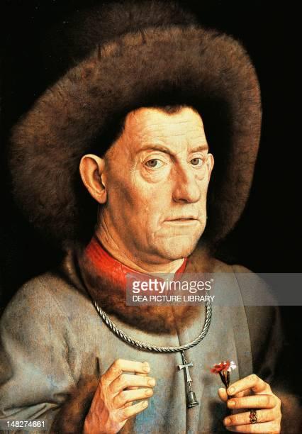 Portrait of a Man with Carnation by Jan van Eyck Berlin Gemäldegalerie