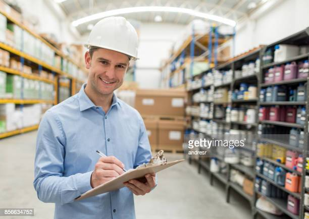 Portrait of a man working at a warehouse