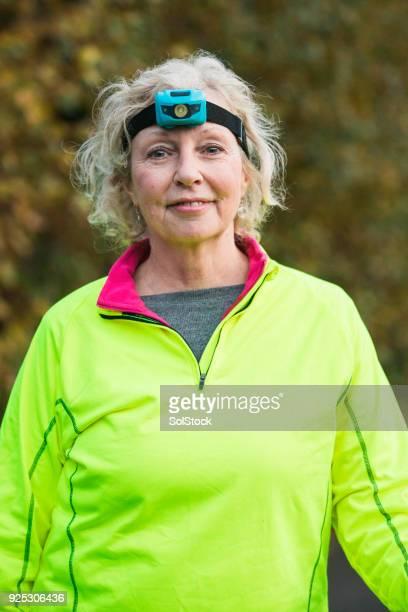 Portrait of a Mature Female Urban Runner