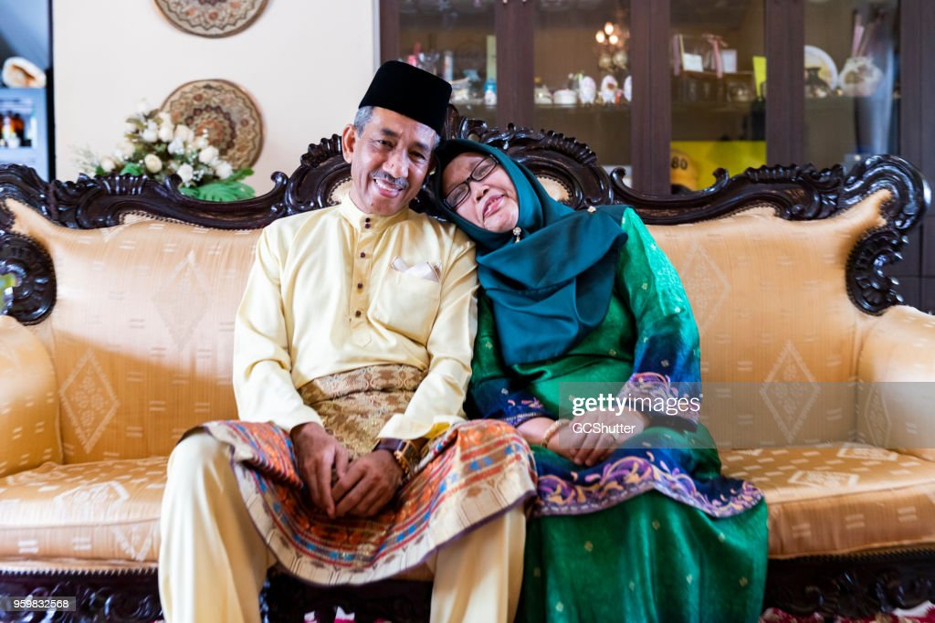 Portrait of a Reife malaysischen Couple : Stock-Foto