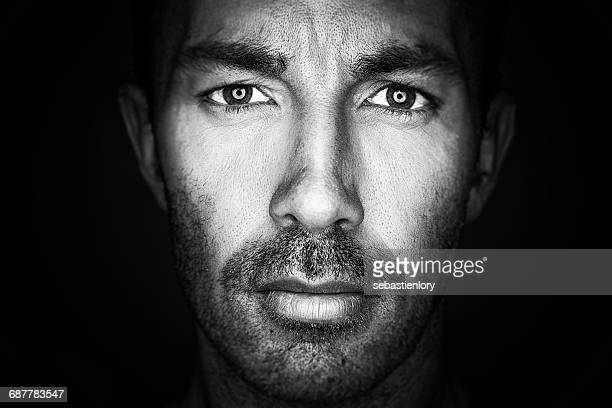 portrait of a mature man - staring stock photos and pictures