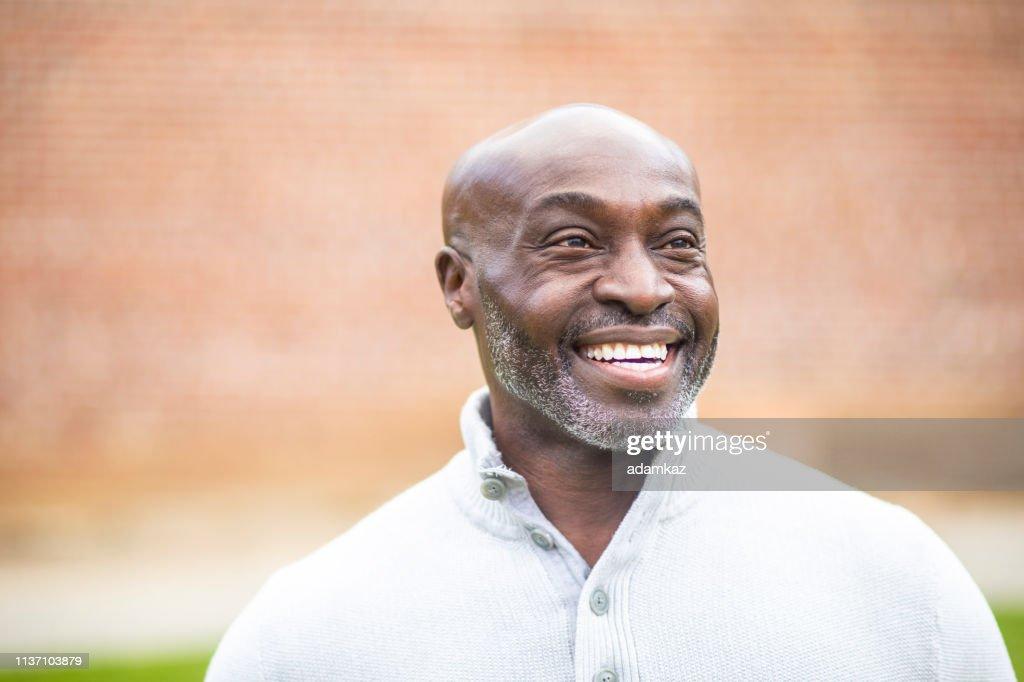 Portrait of a Mature Senior Black Man : Stock Photo