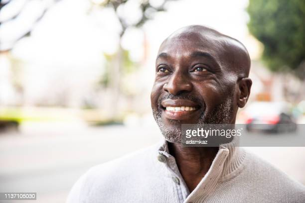 Portrait of a Mature Senior Black Man