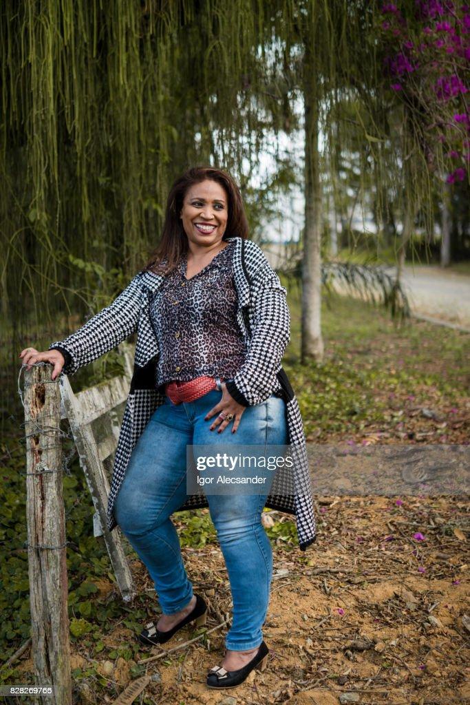 Portrait of a mature woman : Stock Photo