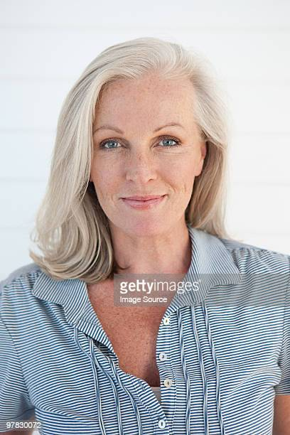 portrait of a mature woman - pretty older women stock pictures, royalty-free photos & images