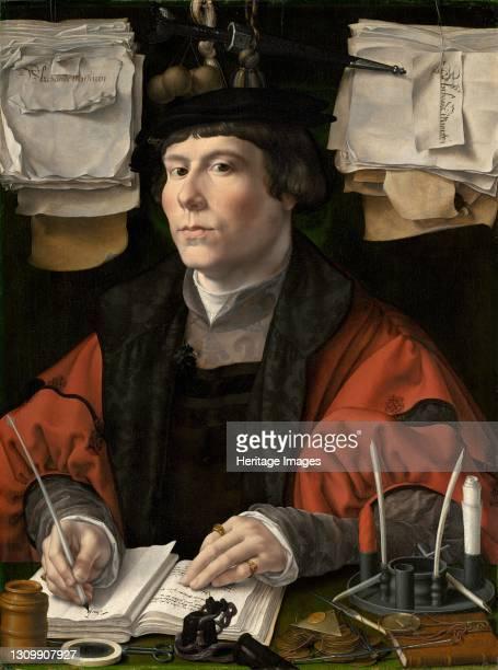 Portrait of a Merchant, circa 1530. Artist Jan Gossaert. .