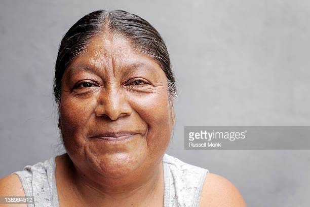 Portrait of a mexican woman.