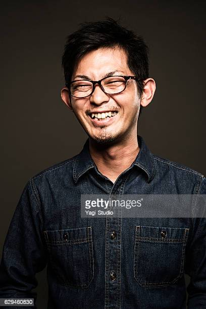 Portrait of a mid adult japanese man