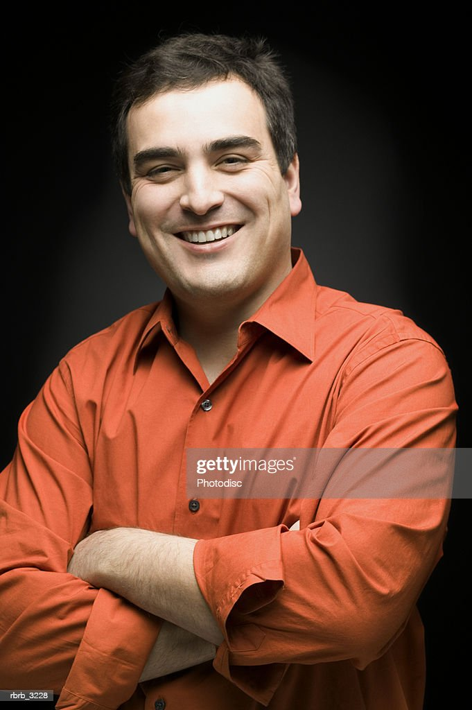 Portrait of a mid adult man smiling : Foto de stock