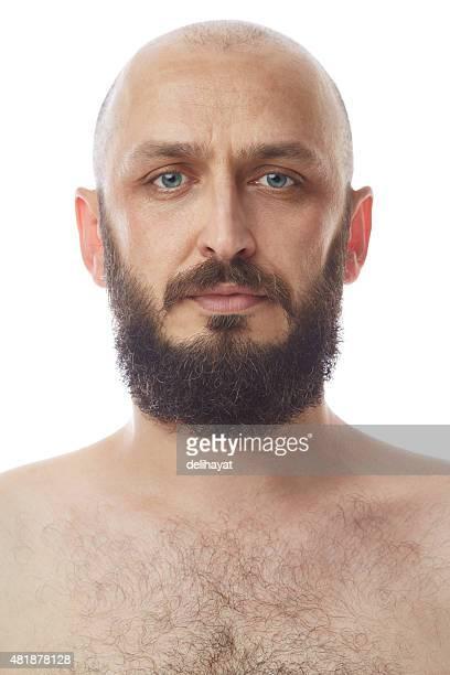 Porträt einer Mitte Erwachsener Mann mit Bart