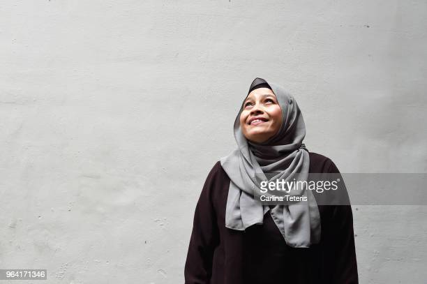 Portrait of a middle aged Malay woman