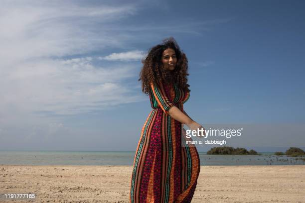 portrait of a middle-easteron woman in saudi arabia - jeddah stock pictures, royalty-free photos & images