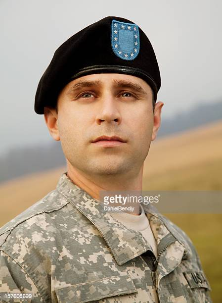 Porträt von eine militärische Soldat