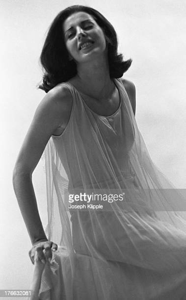Portrait of a model dressed in a transparent negligee Arlington Virginia 1960
