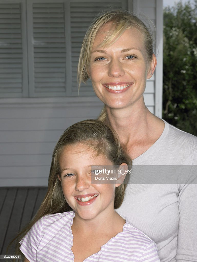 Portrait of a Mother and Daughter : Stock Photo