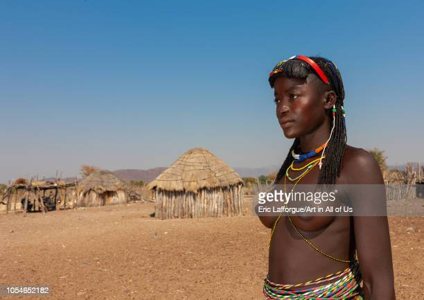Portrait of a Muhacaona tribe woman Cunene Province Oncocua Angola on August 16 2010 in Oncocua Angola