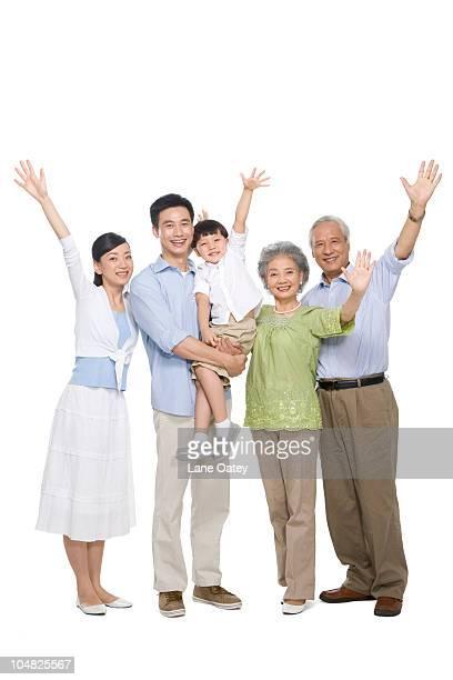 Portrait of a multi-generation family