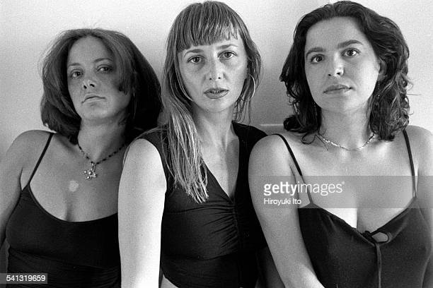 Portrait of a musical group D'Divaz in their Manhattan apartment on July 13, 2000.This image:From left, Milica Paranosic, Danijela Popovic and...