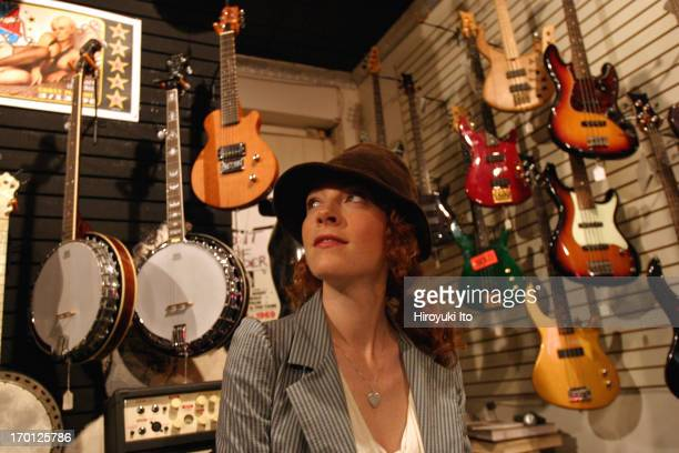 Portrait of a musician Melissa Auf der Maur in Lower East Side on Tuesday afternoon September 28 2004