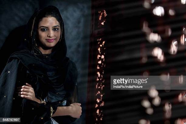 portrait of a muslim woman - dupatta stock pictures, royalty-free photos & images
