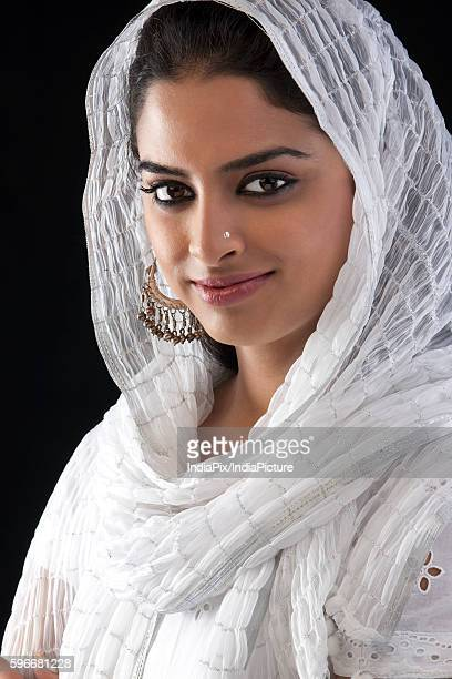 portrait of a muslim woman - salwar kameez stock photos and pictures