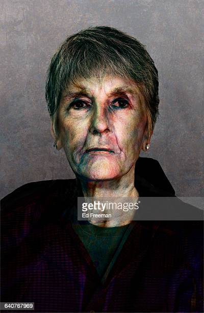 portrait of a mythical person - old ugly woman stock photos and pictures