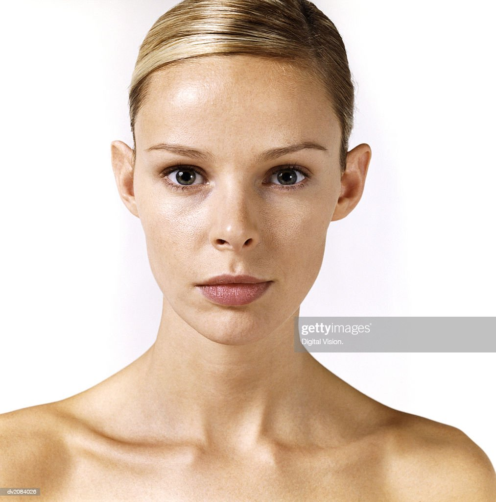Portrait of a Naked Woman : Stock Photo