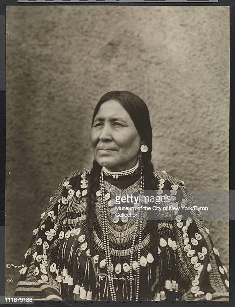 Portrait of a Native American chief's wife Mrs Medicine Owl at the McAlpin Hotel New York New York 1913
