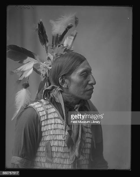 Portrait of a Native American Oglala Sioux man Edward Star at the Louisiana Purchase Exposition St Louis Missouri June 6 1904