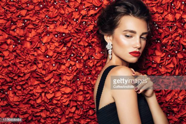 portrait of a nice looking woman - jewellery stock pictures, royalty-free photos & images