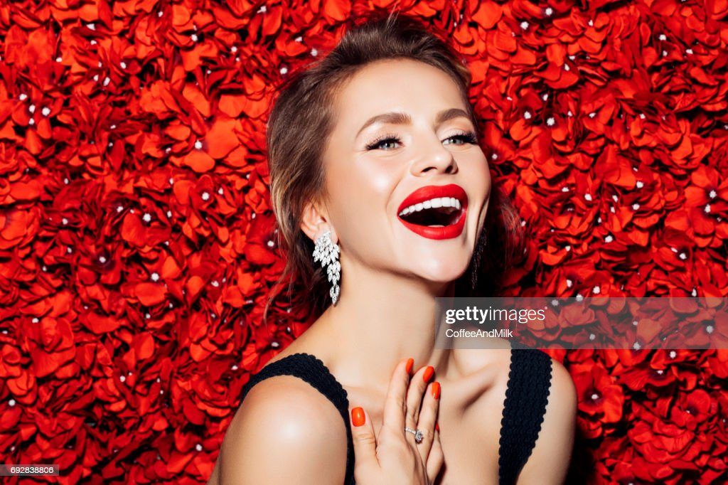 Portrait of a nice looking woman : Stock Photo