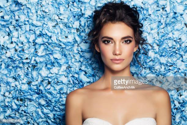 portrait of a nice looking woman - brown eyes stock pictures, royalty-free photos & images