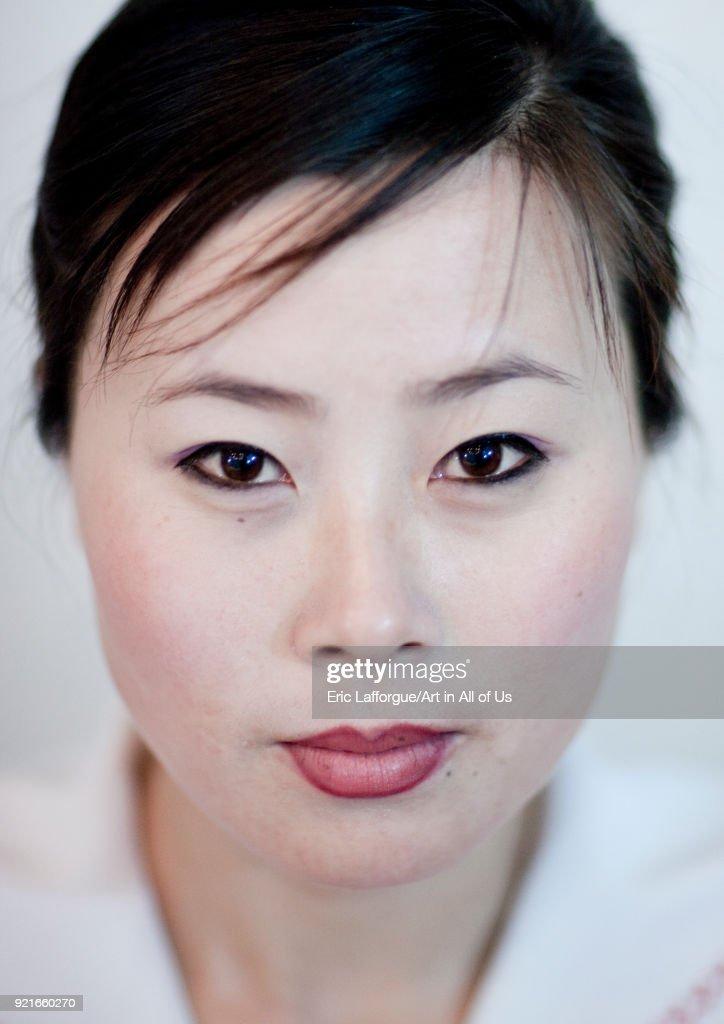 Portrait of a North Korean woman, Ryanggang Province, Samjiyon, North Korea... : News Photo