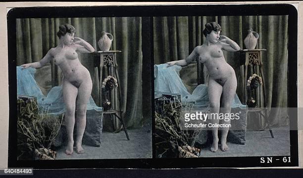 A portrait of a nude woman in a studio ca 18901900 | Location Czech Lands
