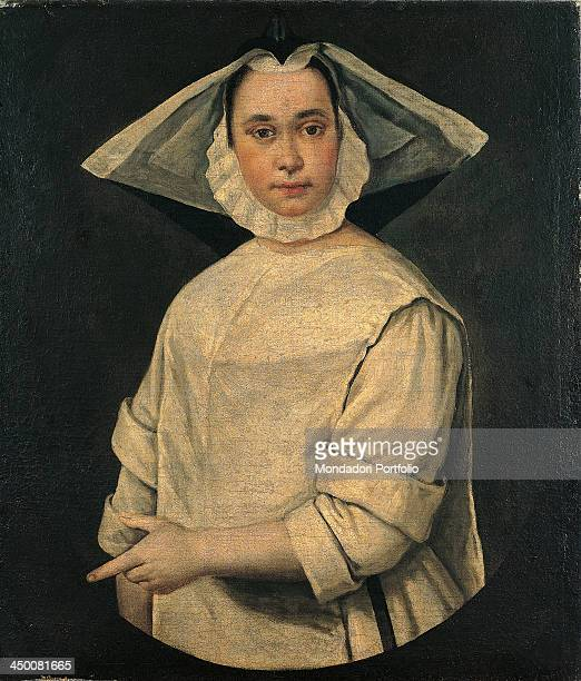 Portrait of a Nun by Giacomo Ceruti known as il Pitocchetto 18th Century oil on canvas