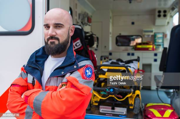 Portrait d'un ambulancier