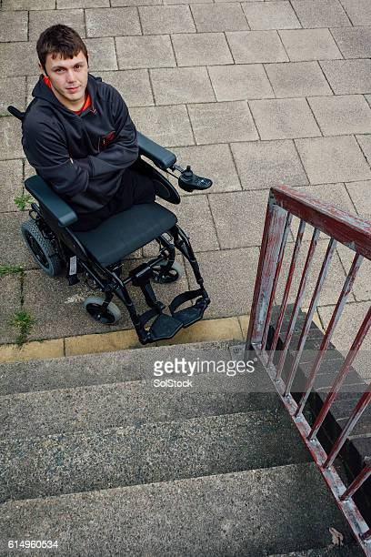 portrait of a paraplegic - quadriplegic stock photos and pictures