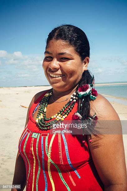 Portrait of a Pataxó woman