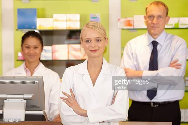 Portrait of a pharmacyst team