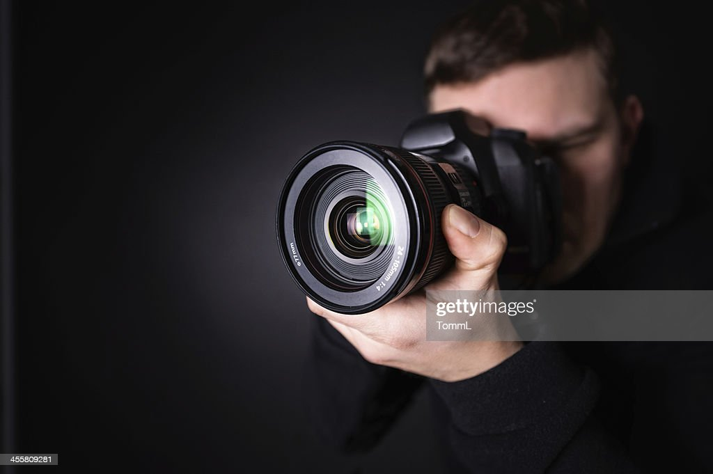 Portrait of a photographer : Stock Photo