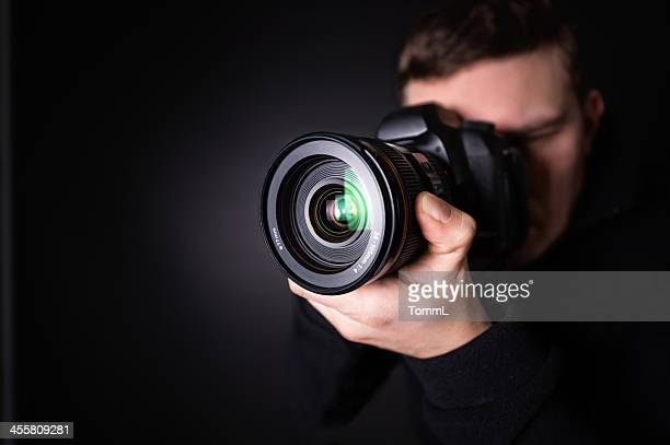 portrait of a photographer - photographer stock photos and pictures