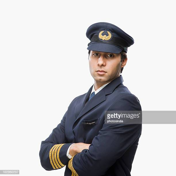 Portrait of a pilot with his arms crossed
