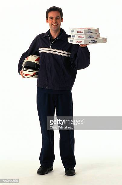 Portrait of a Pizza Delivery Man